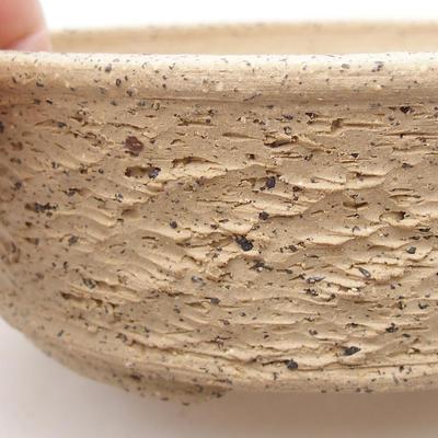 Ceramic bonsai bowl 16.5 x 16.5 x 5.5 cm, gray color - 2
