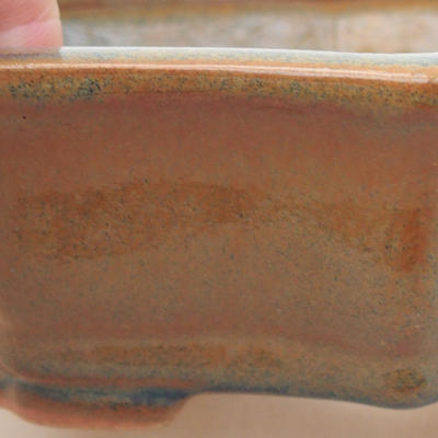 Ceramic bonsai bowl 14 x 10 x 4.5 cm, brown color - 2