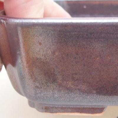 Ceramic bonsai bowl 15 x 12 x 4 cm, color brown - 2