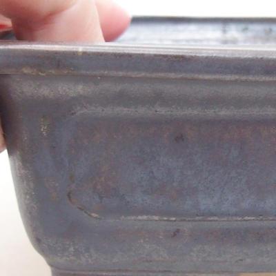 Ceramic bonsai bowl 16.5 x 11.5 x 5 cm, metal color - 2
