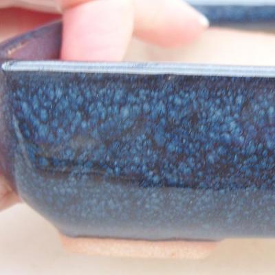 Ceramic bonsai bowl 13 x 10 x 4 cm, color blue - 2