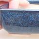 Ceramic bonsai bowl 13 x 10 x 4 cm, color blue - 2/4
