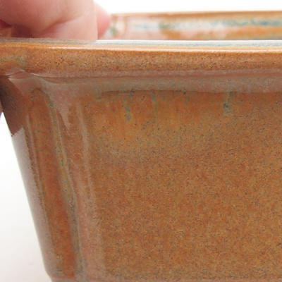 Ceramic bonsai bowl 17 x 12 x 5.5 cm, brown color - 2