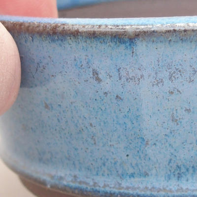 Ceramic bonsai bowl 9 x 9 x 3.5 cm, color blue - 2