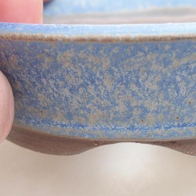 Ceramic bonsai bowl 9 x 9 x 2.5 cm, color blue - 2