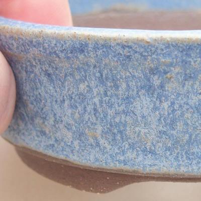 Ceramic bonsai bowl 8 x 8 x 3 cm, color blue - 2