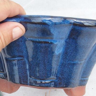 Bonsai bowl 22 x 22 x 10 cm, color blue - 2
