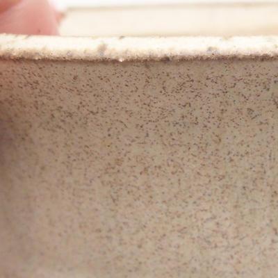 Ceramic bonsai bowl 11 x 11 x 4.5 cm, beige color - 2