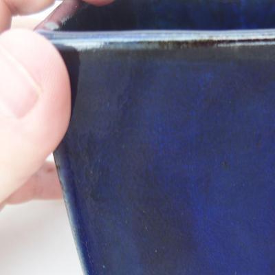 Ceramic bonsai bowl 9 x 9 x 9 cm, color blue - 2