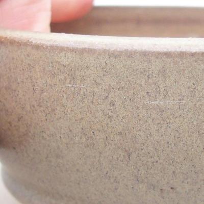 Ceramic bonsai bowl 11 x 11 x 4.5 cm, brown color - 2