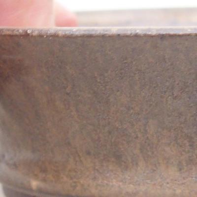 Ceramic bonsai bowl 11 x 11 x 3.5 cm, brown color - 2
