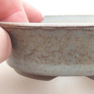 Ceramic bonsai bowl 9 x 9 x 3 cm, gray color - 2