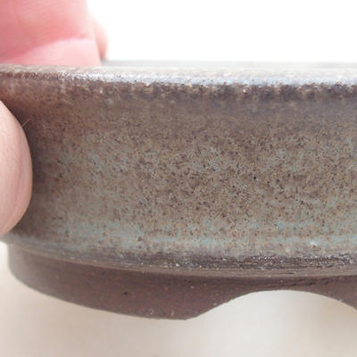 Ceramic bonsai bowl 9 x 9 x 2.5 cm, gray color - 2