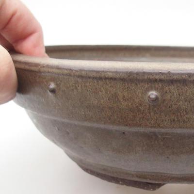 Ceramic bonsai bowl 24 x 24 x 7,5 cm, color gray - 2