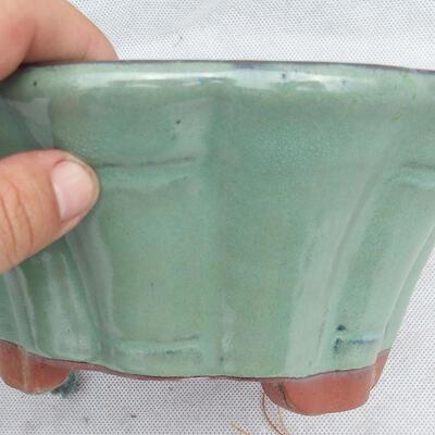 Bonsai bowl 22 x 22 x 10 cm, color green - 2