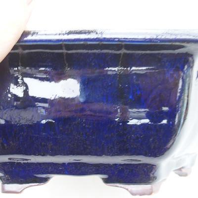 Ceramic bonsai bowl 28 x 25 x 8.5 cm, brown-blue color - 2