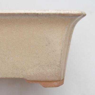 Ceramic bonsai bowl 18 x 14 x 7 cm, beige color - 2