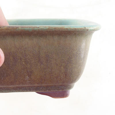 Ceramic bonsai bowl 13.5 x 10 x 6 cm, color brown-green - 2