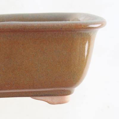 Ceramic bonsai bowl 13.5 x 10 x 6 cm, color gray-rusty - 2