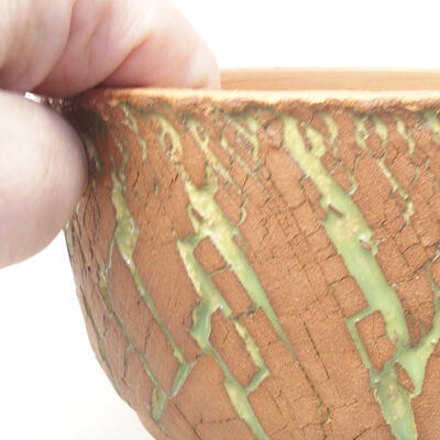 Ceramic bonsai bowl 14 x 14 x 8.5 cm, color cracked - 2