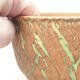 Ceramic bonsai bowl 14 x 14 x 8.5 cm, color cracked - 2/4