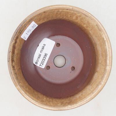 Ceramic bonsai bowl 11 x 11 x 7 cm, beige color - 2