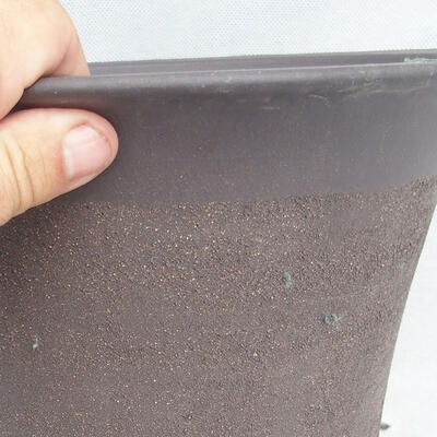 Bonsai bowl 25 x 25 x 22 cm, gray color - 2