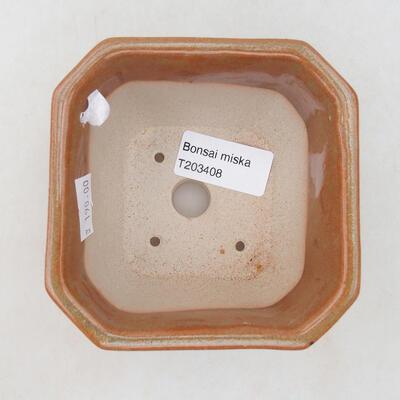 Ceramic bonsai bowl 10 x 10 x 6.5 cm, color gray-rusty - 2
