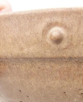 Ceramic bonsai bowl 20 x 20 x 5.5 cm, brown color - 2