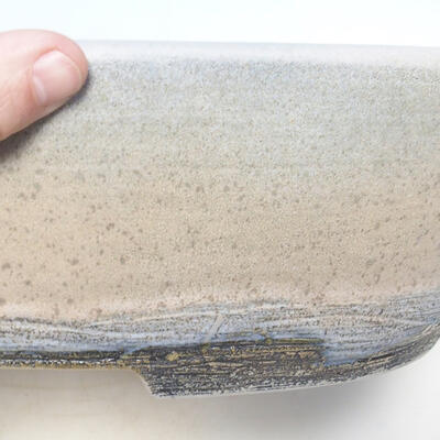 Bonsai bowl 41.5 x 32.5 x 11 cm, gray-beige color - 2
