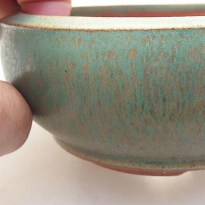 Ceramic bonsai bowl 10 x 10 x 3.5 cm, color blue - 2