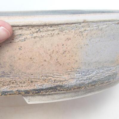Bonsai bowl 45 x 36.5 x 9 cm, gray-beige color - 2