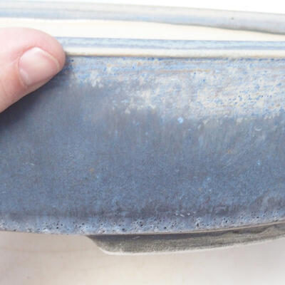 Bonsai bowl 44 x 35.5 x 9 cm, gray-blue color - 2
