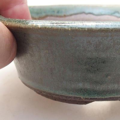 Ceramic bonsai bowl 11.5 x 11.5 x 4 cm, color green - 2
