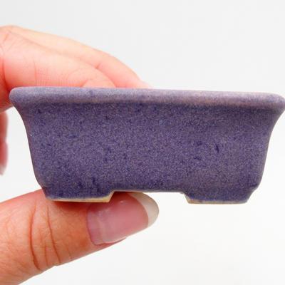 Mini bonsai bowl 6 x 3,5 x 2,5 cm, color violet - 2