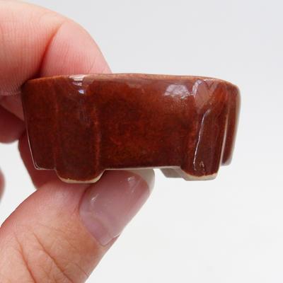 Mini bonsai bowl 4 x 2,5 x 1,5 cm, color brown - 2