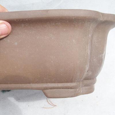 Bonsai bowl 31 x 25 x 11 cm, gray color - 2