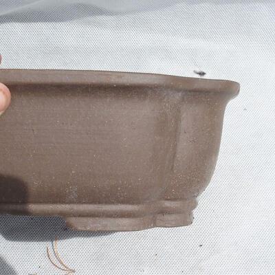 Bonsai bowl 25 x 20 x 7.5 cm, gray color - 2