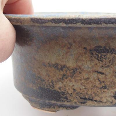 Ceramic bonsai bowl 19 x 15,5 x 6 cm, blue-gray color - 2