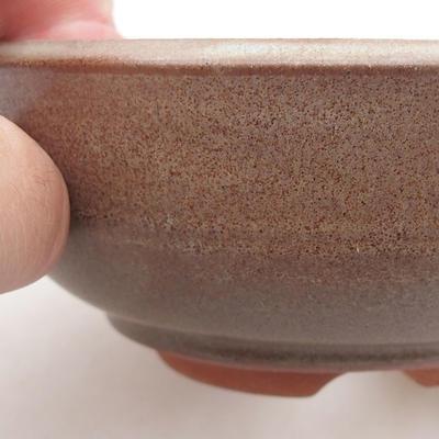 Ceramic bonsai bowl 12 x 12 x 4.5 cm, color brown - 2