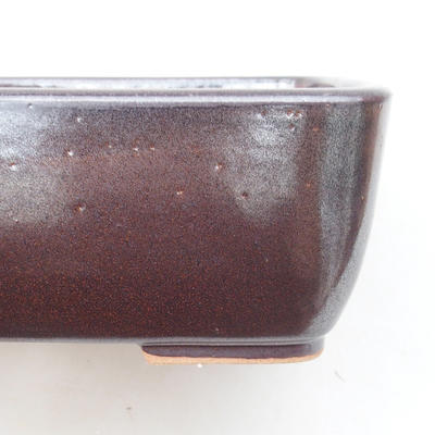 Ceramic bonsai bowl 16 x 10 x 5.5 cm, brown color - 2