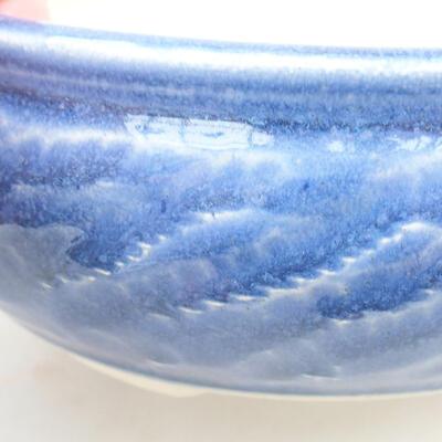 Ceramic bonsai bowl 13.5 x 13.5 x 5.5 cm, color blue - 2