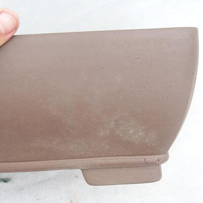 Bonsai bowl 34 x 26 x 13 cm, gray color - 2
