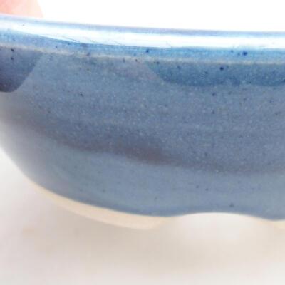 Ceramic bonsai bowl 15 x 15 x 4.5 cm, color blue - 2