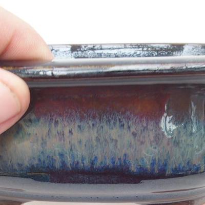 Ceramic bonsai bowl 15.5 x 13 x 5.5 cm, brown-blue color - 2