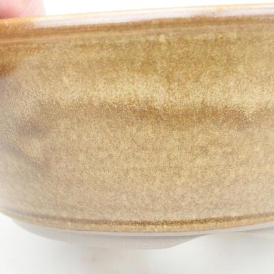 Ceramic bonsai bowl 20 x 20 x 6.5 cm, brown color - 2