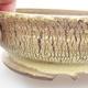 Ceramic bonsai bowl 16 x 16 x 5 cm, yellow color - 2/3