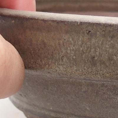 Ceramic bonsai bowl 17.5 x 17.5 x 5.5 cm, gray color - 2
