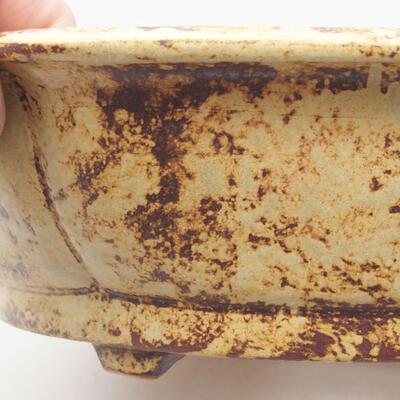 Ceramic bonsai bowl 31 x 28 x 7.5 cm, color yellow-brown - 2