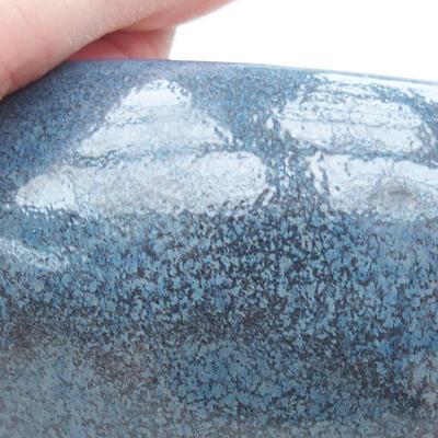 Ceramic bonsai bowl 13.5 x 13.5 x 6 cm, color blue - 2